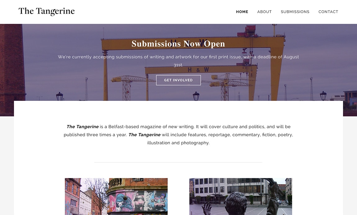 Submissions | The Tangerine Magazine - Belfast